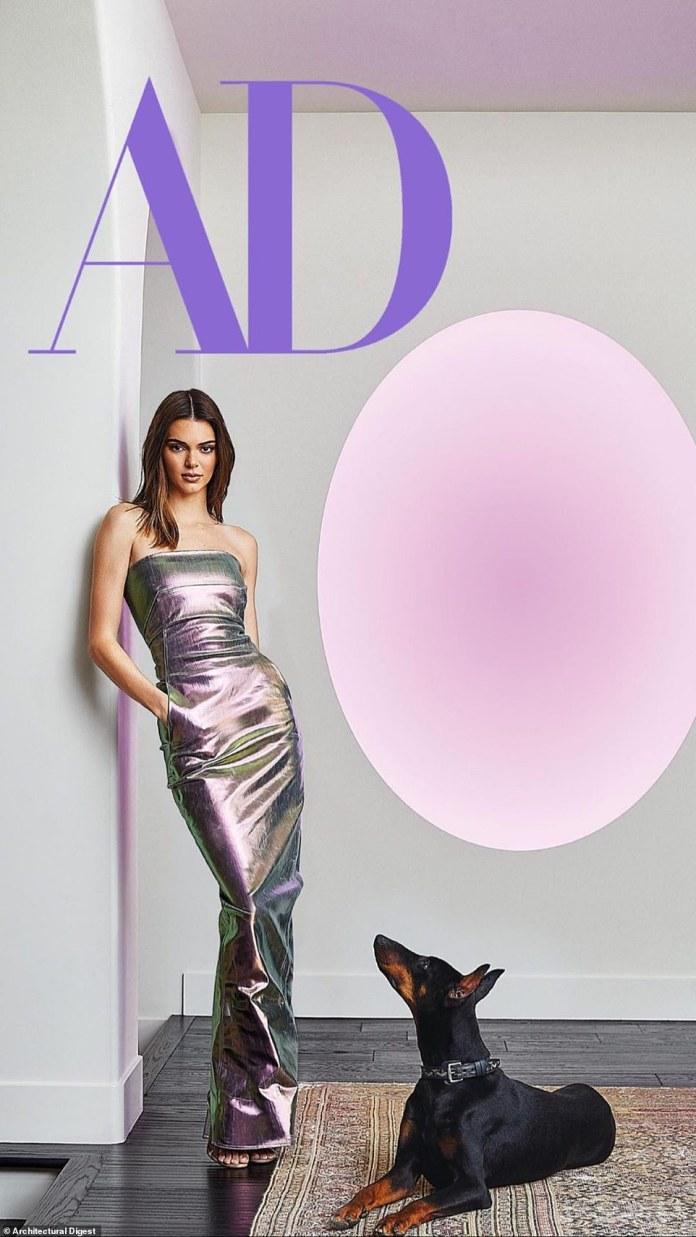 Hogar, dulce hogar: Kendall Jenner mostró su estilo refinado y su gusto por el arte al invitar a Architectural Digest a su morada de Los Ángeles para el último número