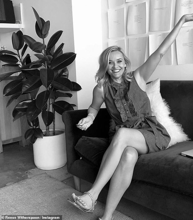 Viral: Celebrities like Reese Witherspoon have posted black-and-white photos of themselves using the hashtags #WomenSupportingWomen and #ChallengeAccepted