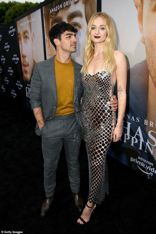 Further employed: Sophie Turner and Joe Jonas, according to Euvecli, took their daughter's name 'before the baby arrives'.  Seen in june 2019