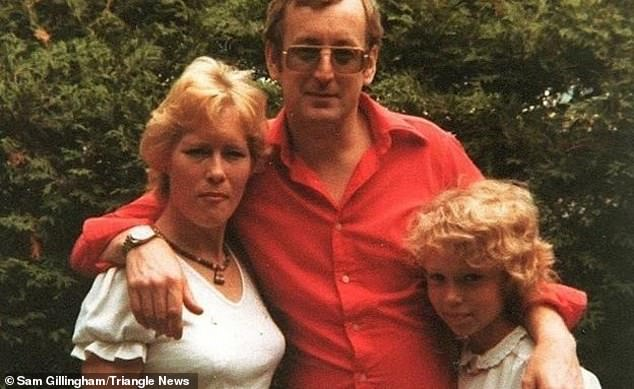 Russell Causley (middle) is pictured with Carole Packman (left) and daughter Sam Gillingham (right)