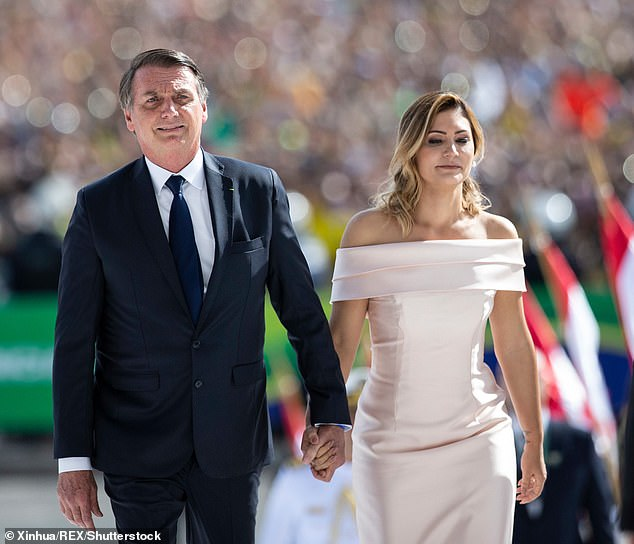 Brazil's first ladyMichelle Bolsonaro, 38, also tested positive for coronavirus after her husband President JairBolsonaro, 65, spent two weeks isolating after contracting the virus
