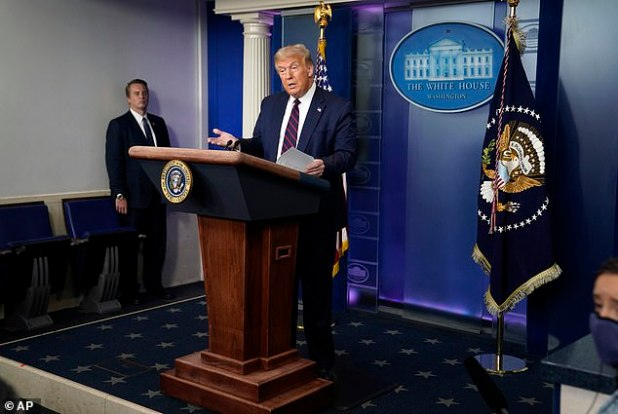 Donald Trump wants to include the next coronovirus stimulus package to boost a weekly unemployment benefit scheduled to end on Friday.  Told reporters at the White House on Thursday,