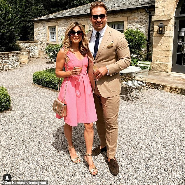 Supportive: Zoe revealed the experience left her in constant 'waves of tears', as she credited her husband Paul Doran-Jones, 35, with 'lifting her to the ground', as she battled the disease.