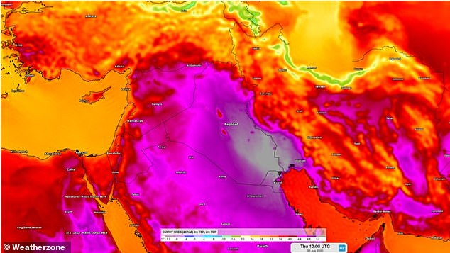 A heatwave is setting records in the Middle East including in Kuwait and Lebanon