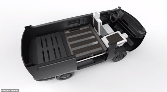 Both chassis options - on-road and off-road - have a row of back seats that can be folded down, depending on which design the customer wants