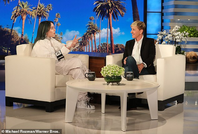 'She feels she can't go on and the only way to recover her personal brand from this is to shut down the show,' a source said of Ellen contemplating quitting her show. She's pictured on her show with 17-year-old pop star Billie Eilish