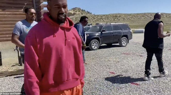 Kanye has been open about his struggle with bipolar disorder and, in 2016, he spent time in hospital after a 'psychiatric emergency' that forced him to cancel 21 concert dates. He is pictured here in a video clip he shared last week