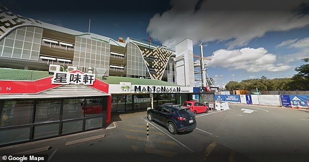 The woman was eating at Madtongsan IV Restaurant (pictured) after allegedly lying about being in Melbourne when she arrived in Queensland