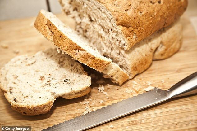 Wholegrains like brown rice and wholemeal bread are included in the Mediterranean diet.Another healthy habit, surprisingly, is drinking alcohol – but not too much of it (file photo)