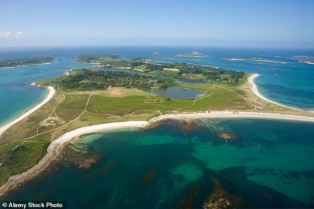 One day William will inherit Tresco (aerial view in photo), which is part of the Duchy of Cornwall and owned by his father, the Duke of Cornwall