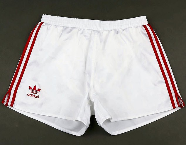 The white shorts worn by Whiteside at the 1982 World Cup, against either Honduras or Austria