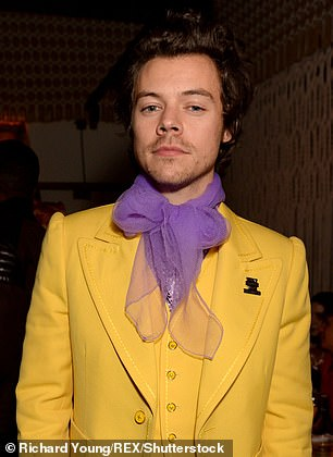 Before: Harry usually has a clean-shaven look or a small amount of stubble, the latter he was pictured having at the Brit Awards in February