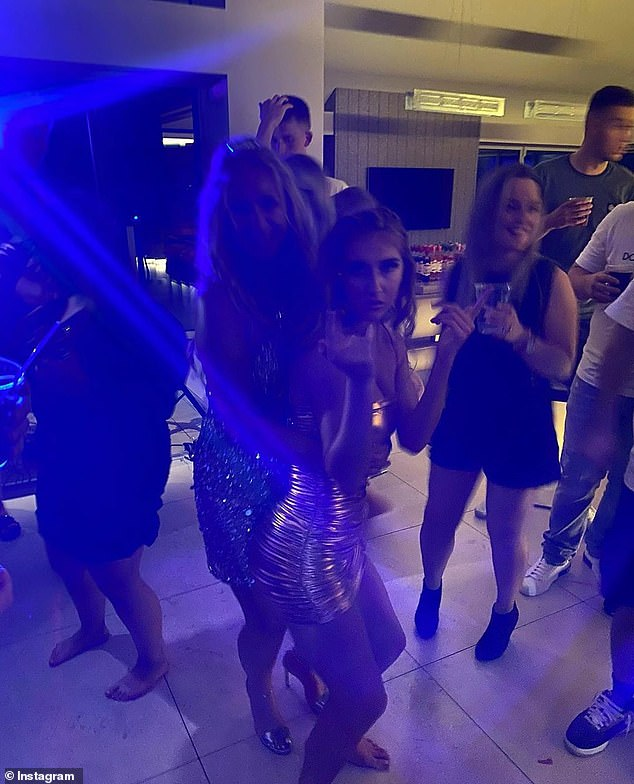 Alicia Scholes shared photos of the revelers, who ignore social distancing rules while dancing at the birthday party