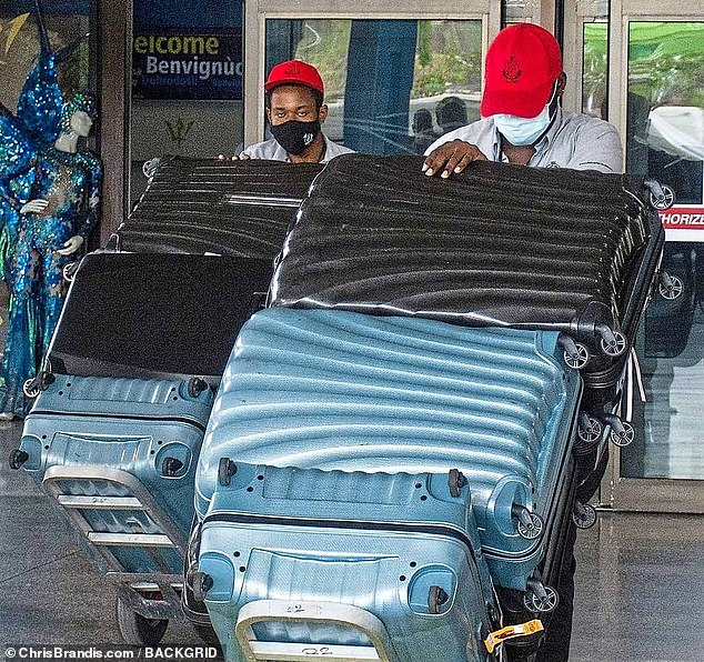 The Rooneys¿ luggage is seen arriving in Barbados. For me, one of the unintended pluses of flying during the pandemic is that we¿re encouraged to check in luggage rather than carry it on, to avoid that desperate crush trying to nab overhead space