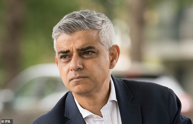 It¿s Labour mayor Sadiq Khan¿s brainwave to boost social distancing by increasing pavement width ¿ but it just looks like roadworks