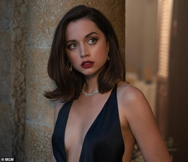 Bond girl:Ana, 32, will grace the silver screen as sultry siren Paloma in the upcoming James Bond film No Time To Die, which hits theaters on November 20; Ana pictured in No Time To Die in 2020