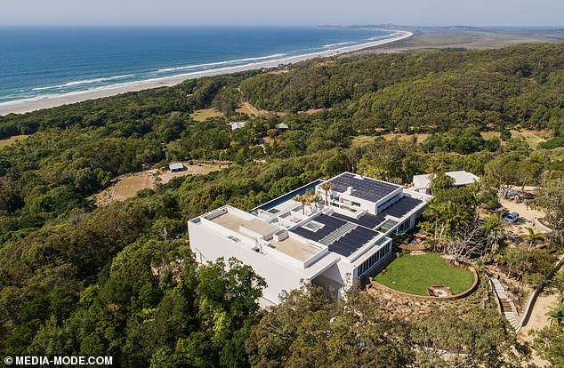 Huge! Brother Chris Hemsworth finished his sprawling $20 million mansion nicknamed 'Fort Hemsworth' (pictured) in Byron Bay last year