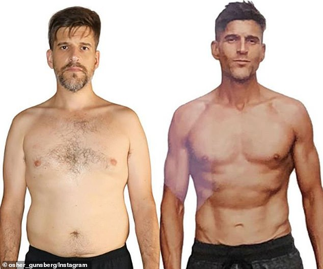 Changes: Osher went on a complete transformative health journey back in 2018, after coming off anti-psychotics and shifting to a different medication. Here before and after from the shoot