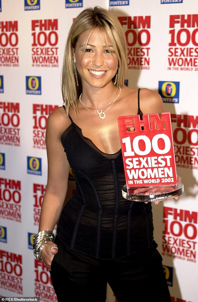 Wow: Rachel, a mother of two, said she has 'special' memories of her last scantily clad shoot where she was two months pregnant with her youngest daughter Minnie, six (pictured in May 2002)