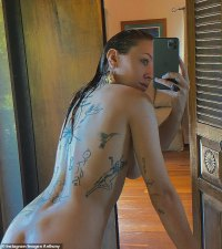 Imogen Anthony shares racy nude photos as she shows off her new space-themed back tattoo