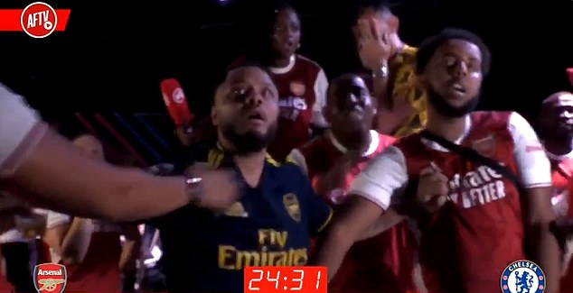 Club fan channel AFTV also disobeyed social distancing rules during a live reaction video