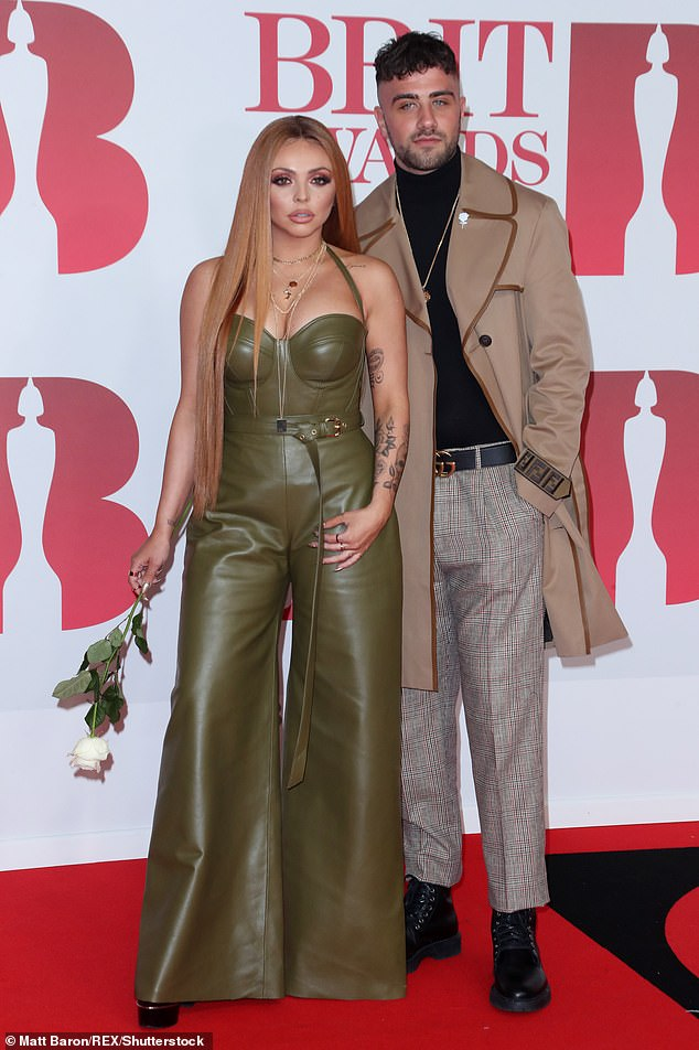 Romance history:Jesy was also in a romance with musician Harry James for 16 months until 2018 (pictured)