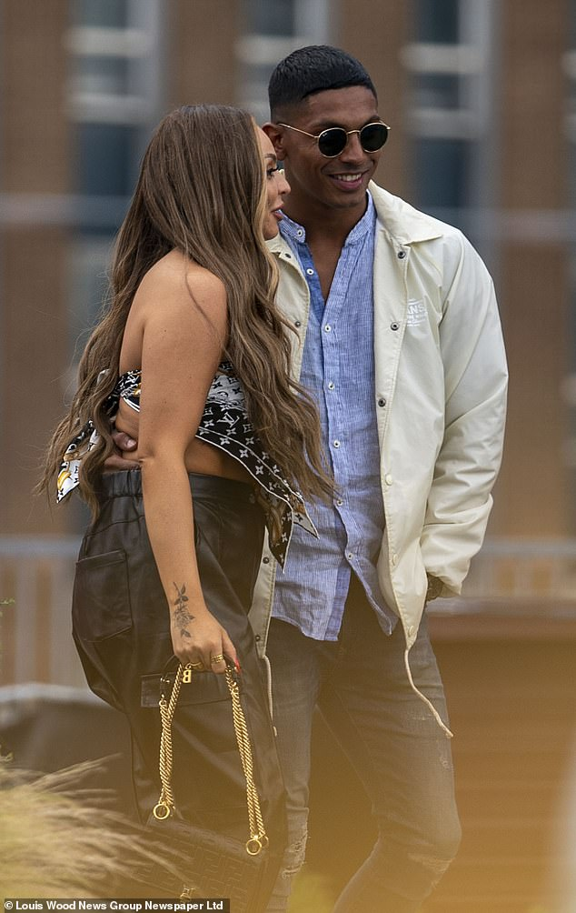 PICTURED:Jesy Nelson put on a cosy display with Our Girl star Sean Sagar during a boozy lunch at Roof East bar in London 's Stratford district late last month