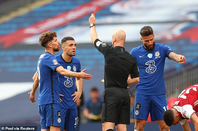 Anthony Taylor awarded the Gunners a penalty before sending Mateo Kovacic off harshly