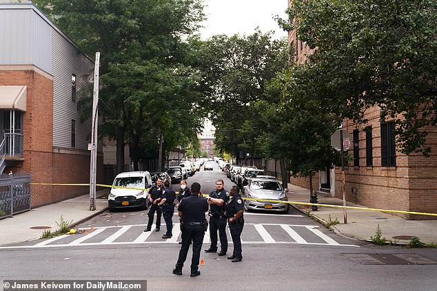 Scene of a shooting in the Bronx, July 7. Every borough in NYC is affected by rising gun crime