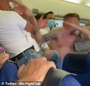 The flight took off from Amsterdam on Friday