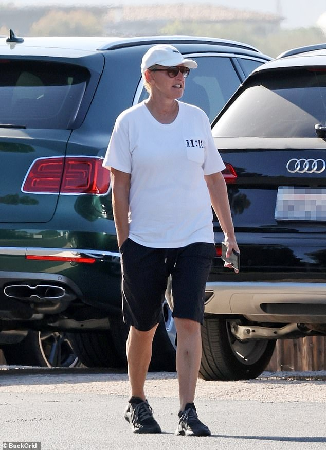 Production sources revealed staff have taken to calling Ellen 'Talk Show Karen'.Ellen was photographed taking a walk with an unidentified friend on Saturday afternoon in Santa Monica