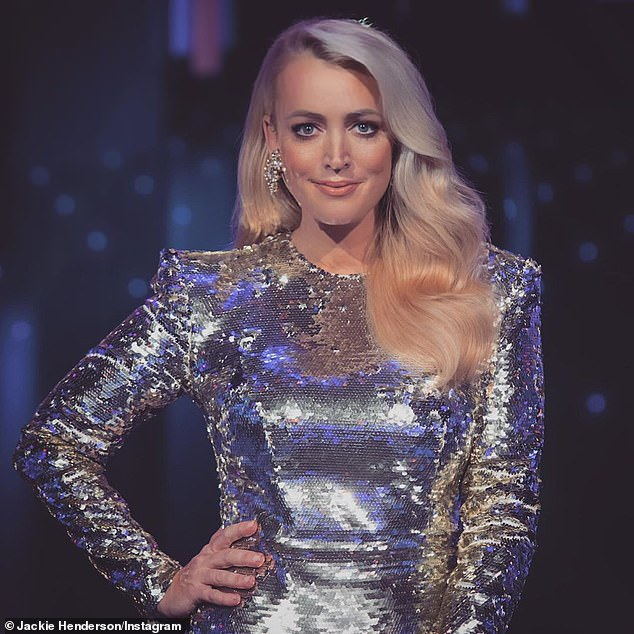 'The COVID restrictions are so over the top that we have to follow':Jackie 'O' Henderson, 45, (pictured) has revealed the extreme COVID-19 precautions being taken on the Melbourne set of The Masked Singer amid the city's stage four lockdown