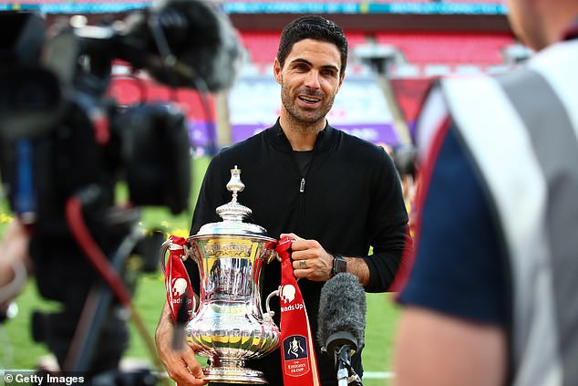 Mikel Arteta could add another piece of silver to the cabinet after less than a year as boss