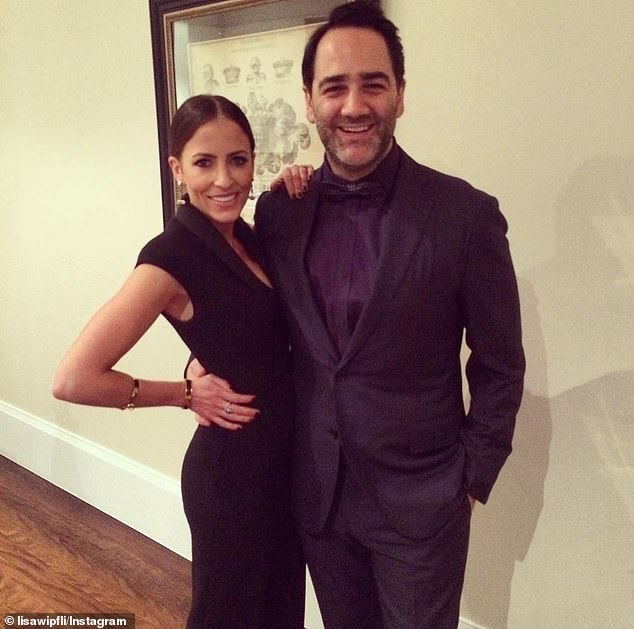 In the doghouse! Michael 'Wippa' Wipfli (right) has revealed his wife, Lisa (left), asked him to move out over the weekend, after he posted a very unflattering picture of her to Instagram