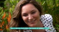 Kelly Brook accidentally snaps a plant and brands herself 'common' in awkward This Morning segment
