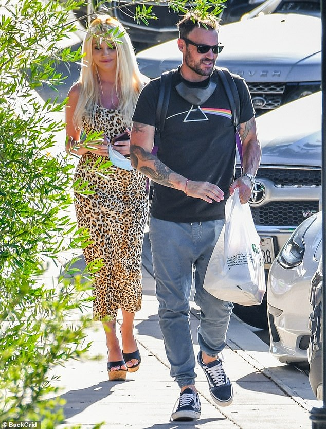 A fun date with a pinup: The 47-year-old actor was also seen grabbing food with 25-year-old Courtney Stodden in June
