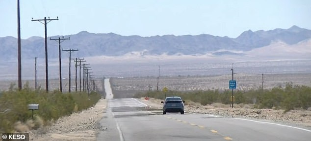 Lloyd's black Honda Accord was found damaged and abandoned at the edge of the park near the town of Twentynine Palms (pictured)