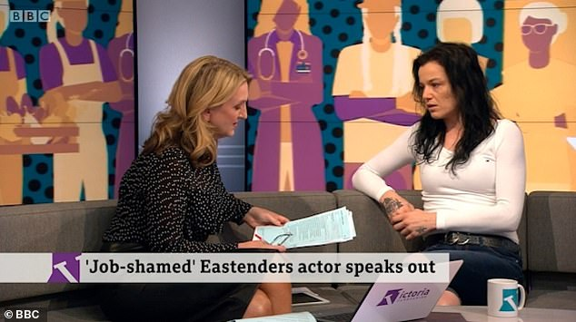 Speaking out: She appeared on Victoria Derbyshire last year to admit she had felt 'hurt and embarrassed' for being 'made to feel ashamed for having a normal job'