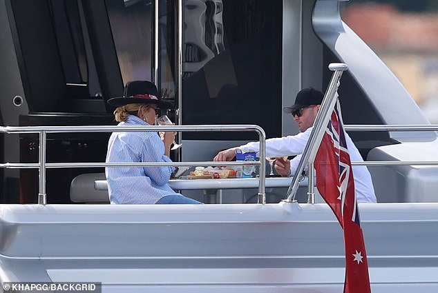 Living the WAG life! Over the weekend, Pip and Michael enjoyed a romantic yacht cruise in Sydney Harbour on the $15million vessel owned by celebrity accountant Anthony Bell
