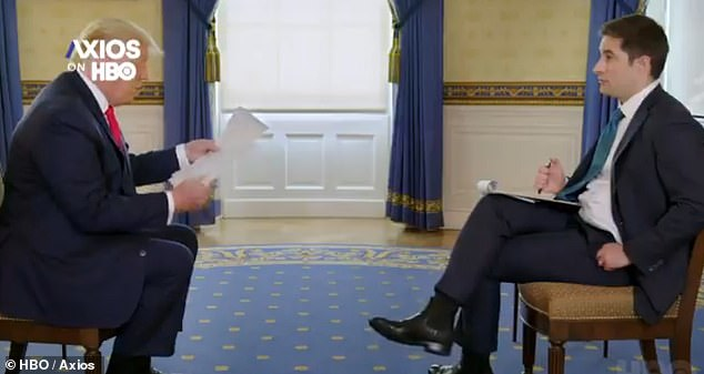 At one point in the interview, Trump suggested that South Korea may not fully report the number of coronavirus deaths, a statement that surprised Swan