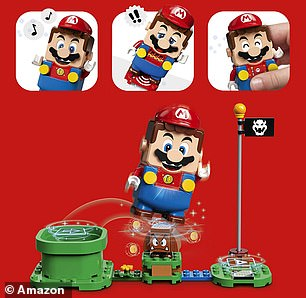 The LEGO Mario figure included in the starter set features colour sensors