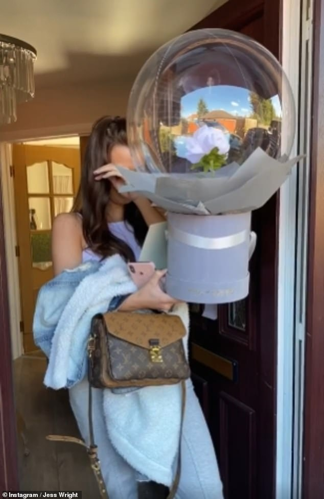 Overwhelmed: The brunette later visited her younger sister Natalya, who broke down in tears as her eldest sibling asked if she could be her Maid Of Honour