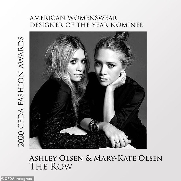 Talented twosome: Olsen and her fraternal twin sister Mary-Kate were just nominated for two trophies - womenswear and accessories - at the CFDA Fashion Awards, which will be announced September 14