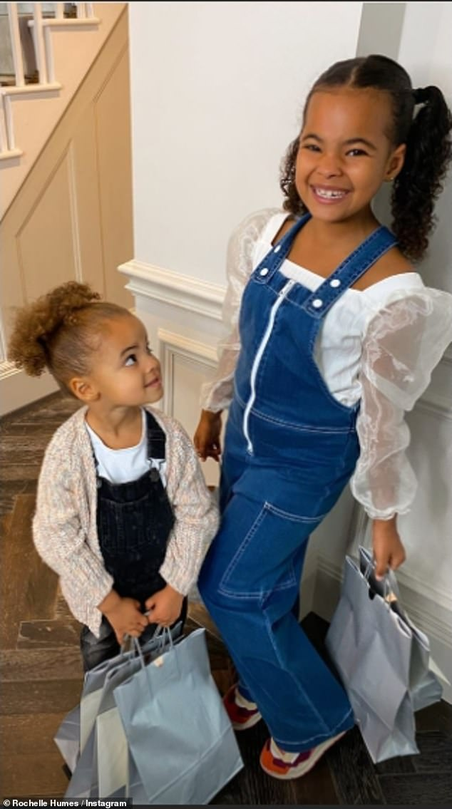 Family: She went onto admit she is looking forward to September when Alaia-Mai, six, and her younger sister Valentina, three, will be back at school and nursery