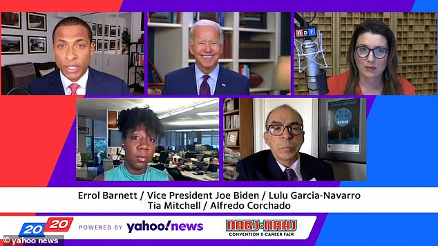 The interview, which aired in full on Thursday, was conducted by different journalists part of the National Association of Black Journalists and National Association of Hispanic Journalists
