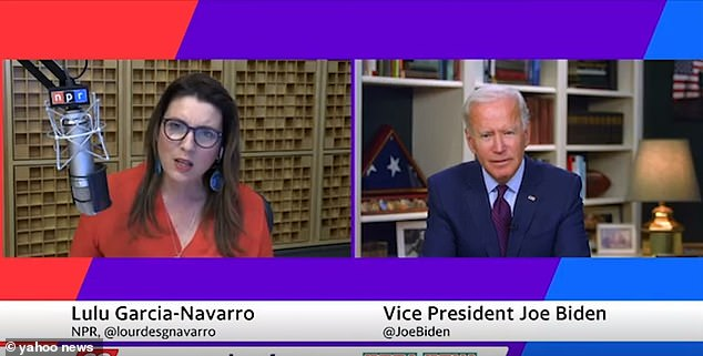 His response came after he was asked by NPR's Lulu Garcia-Navarro if Biden would put a stop to deporting Cubans from America if he became president