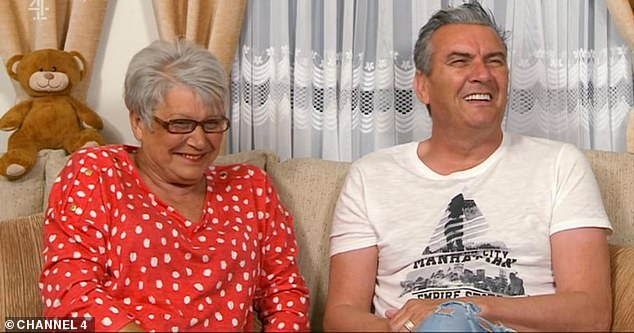 Long-distance: Steve lives in Cyprus, while Lee resides in a mobile home in Hull and appeared on Gogglebox with his best friend Jenny