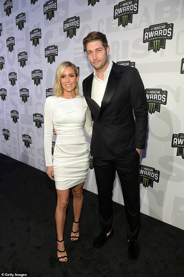 Split:Kristin announced her divorce from Jay Cutler, after seven-years of marriage, back in April (pictured in 2019).'It was not an easy decision, obviously,' she told Entertainment Tonight in an interview that is set to air on Monday, September 28. 'It was something that I truly thought about every single day for over two years'