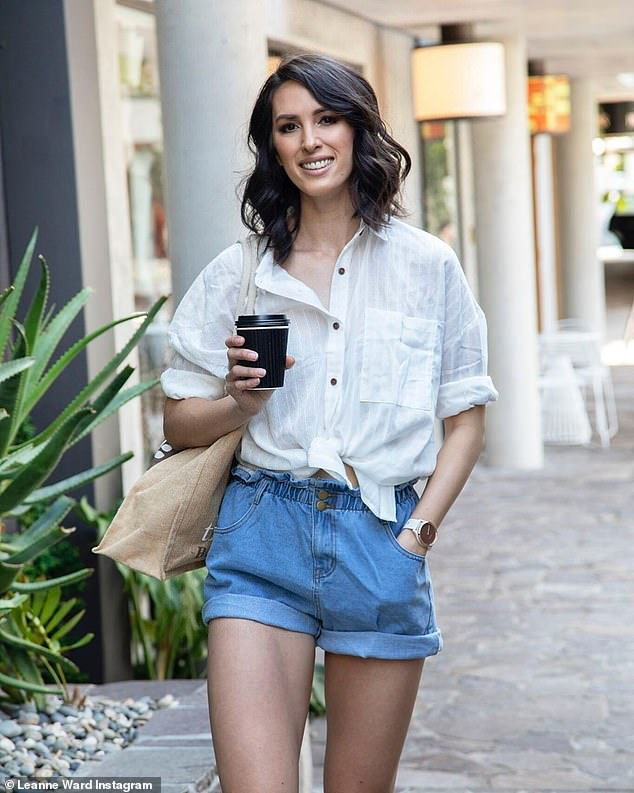 The lowest amount of calories the 30-year-old dietitian said she reached each day was 1,550 calories - which is dangerously low for her six-foot frame (Leanne pictured)