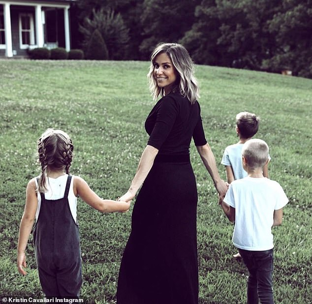 Cutting it out:The mother-of-three said she is focusing on herself, kids and business Uncommon James and is learning 'how to cut toxicity' out of her life